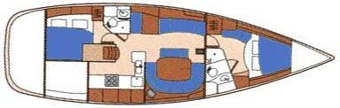 Dual Cabin Master Suite Layout on S.V. Noelani Sailing Club Custom Edition